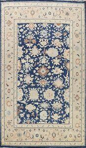 Vegetable Dye Oushak-Chobi Oriental Area Rug Handmade Navy Blue Wool Carpet 9x12