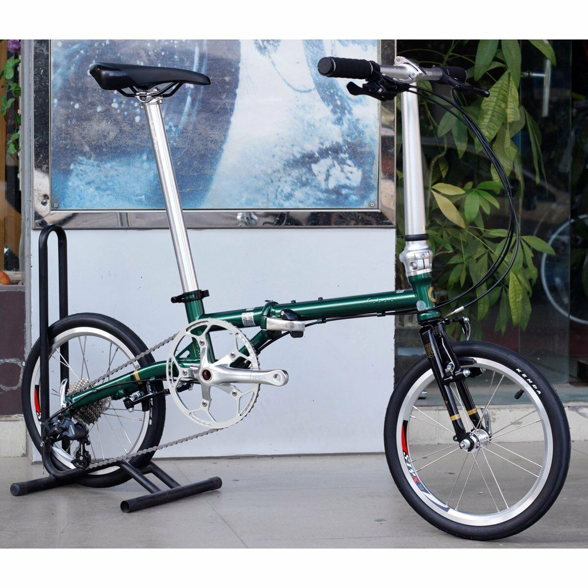 Fnhon Chrome Steel Folding Bike 16   Mini velo Urban Commuter Bicycle 9s V Brake