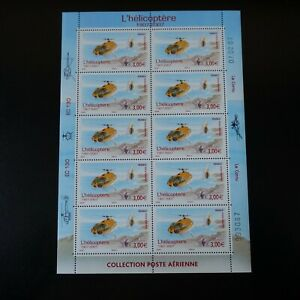 Feuille-Sheet-Stamp-post-Aerial-Pa-N-70-x10-2007-Neuf-Luxe-Mnh