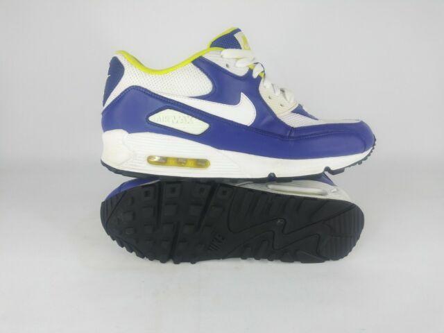 Nike Air Max 90 Running Shoes Wicket Purple White Yellow Men's Sz 10 325018 105