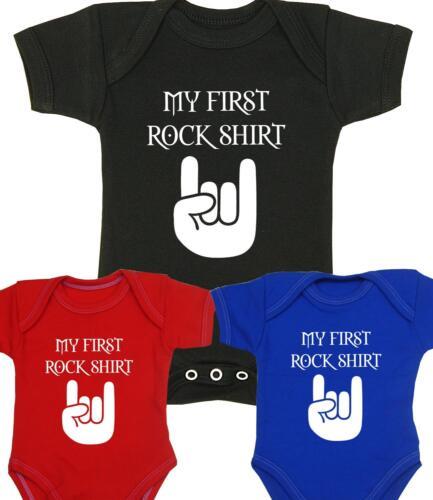 BabyPrem Baby Clothes Boys Girls MY FIRST ROCK SHIRT Music Vest Bodysuit Gifts
