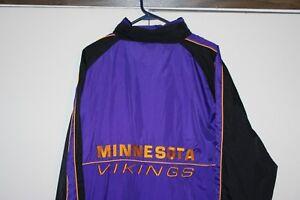 Logo-Athletic-NFL-Game-Day-MN-Vikings-Lined-Hooded-Jacket-Men-Large-Football-EUC