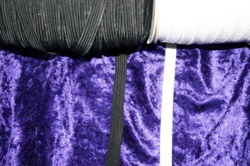 """Traditionnel élastique 1//4 /"""" 5mm cordon de 8 Noir Blanc Plat Pantalon 5m 10m 20m"""