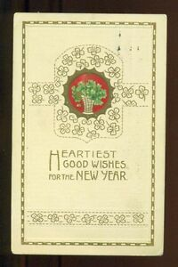 image is loading basket of four leaf clovers 1913 new year