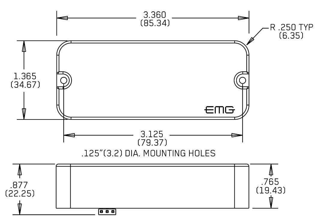 Emg Emg Emg P60 Negro P-90 Estilo vivienda activa Soldadura Pickup (3 Juegos De Cuerdas) f76e58