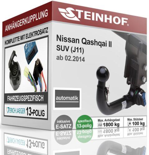 Anhängerkupplung abnehmbar+E-SATZ 13p SPEZ Für Nissan QASHQAI II J11 ab 2014