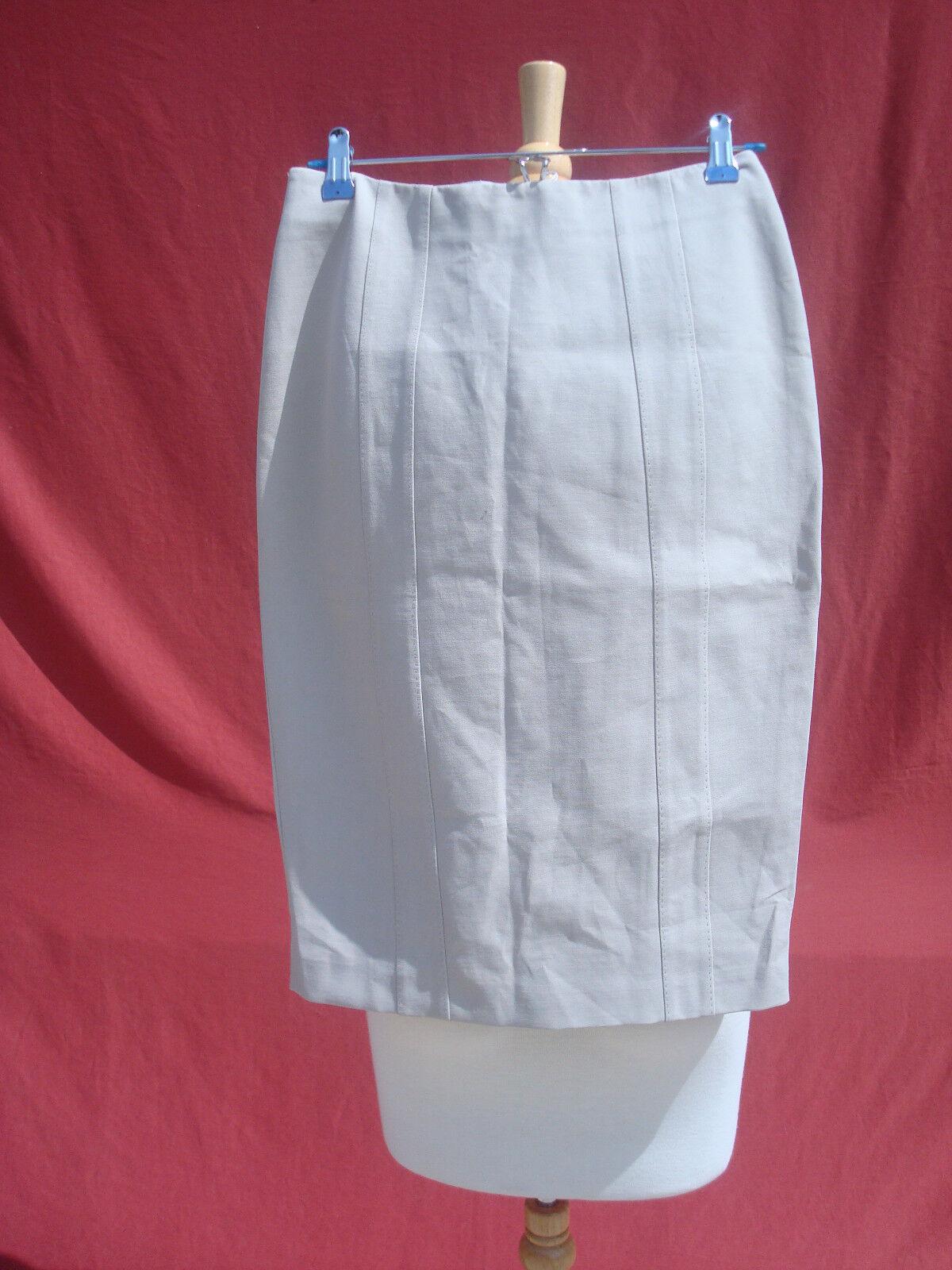 NWT Armani Collezioni Beige Cotton Polyester Spandex Women's Skirt 2   440