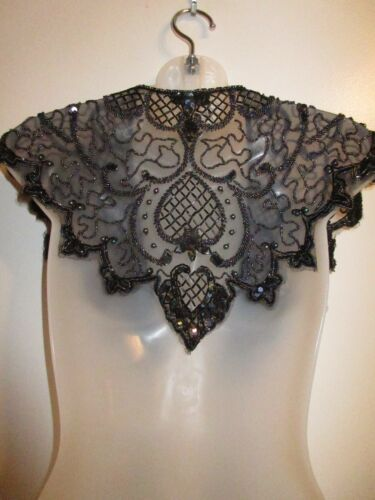 Sharmark Las Vegas Lace Beaded Sequin Shawl Wrap S