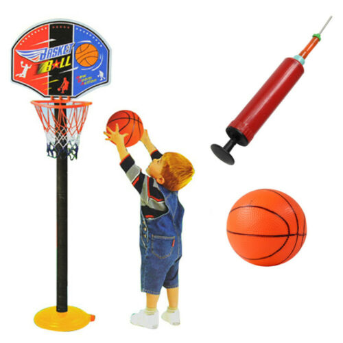 Portable Kids Indoor Outdoor Basketball Hoop Stand Adjustable Height Sports Toys
