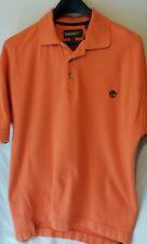 Timberland Mens Polo Shirt Orange M Short Sleeve Medium Weather gear