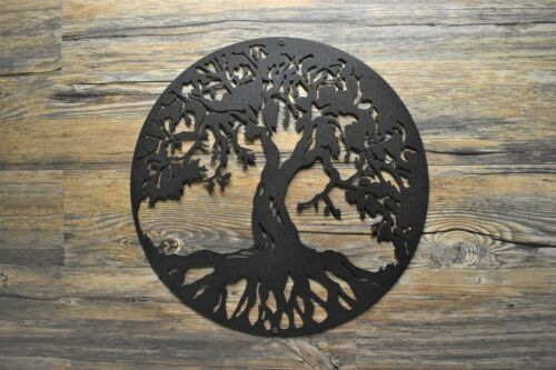 """18/"""" to 30/"""" Tree of Life Metal wall art sign various finishes size Made in USA"""