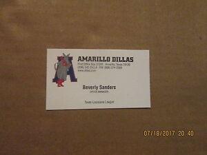 Details About Texas Louisiana League Amarillo Dillas Vintage Logo Baseball Business Card