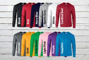 Gildan-Ultra-Cotton-Mens-Crewneck-Long-Sleeve-T-Shirt-S-XL-2400