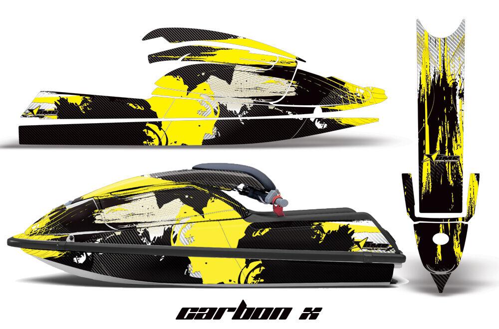 Jet Ski Grafik Kit Aufkleber Pwc SX für Kawasaki Js 750 SX Pwc 1992-1998 Carbonx Ylw 123538