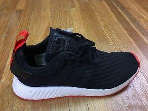 05b238812858 Adidas NMD R2 PK Nomad Shoes Mens Sz 9.5 Primeknit Trainer Black Red ...