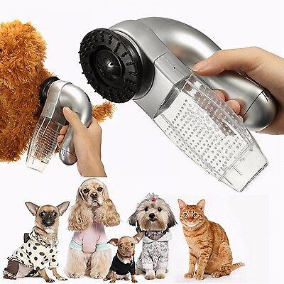 Pet Vacuum Hair Cleaner Cat Dog Electric Fur Remover Vac Trimmer Grooming Tool