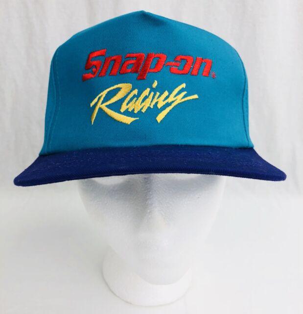 c85dff1efb7061 VINTAGE Snap-On Hat Snapback Cap Mens Teal Blue Cars Racing 90s VTG NOS