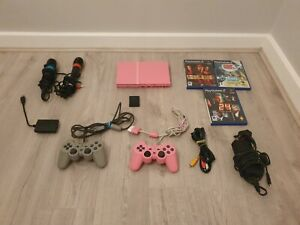 Sony-PlayStation-PS2-Slim-Pink-Console-bundle