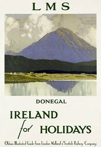 R10-Vintage-LMS-Ireland-Donegal-Railways-Travel-Poster-Re-Print-A1-A2-A3-A4