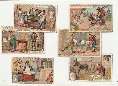 liebigserie nr. 259 - tischlein deck dich. 6 bilder. um 1893. liebigbilder. | ebay