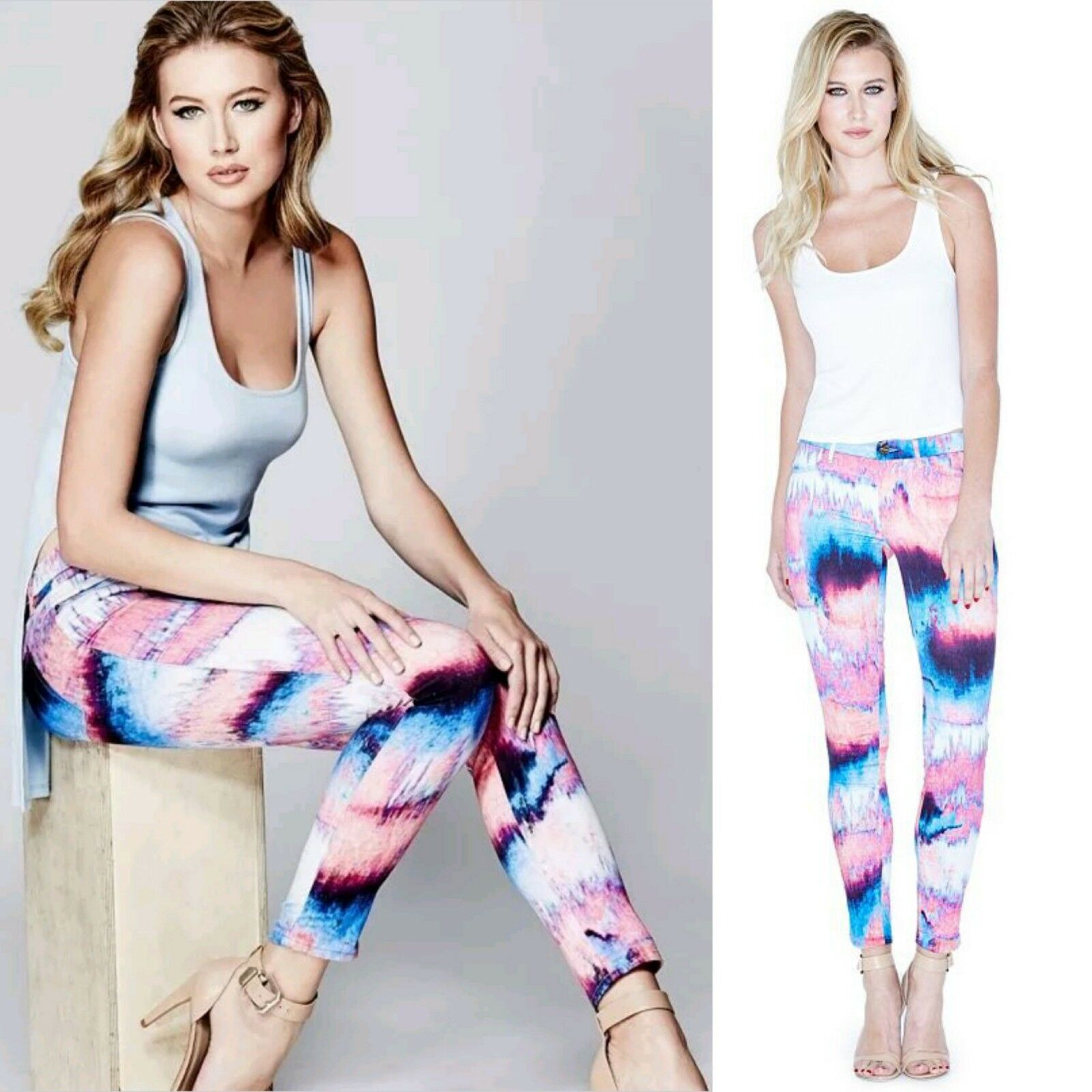 Guess By Marciano The Skinny No.61 Jeans With Reflectives Print
