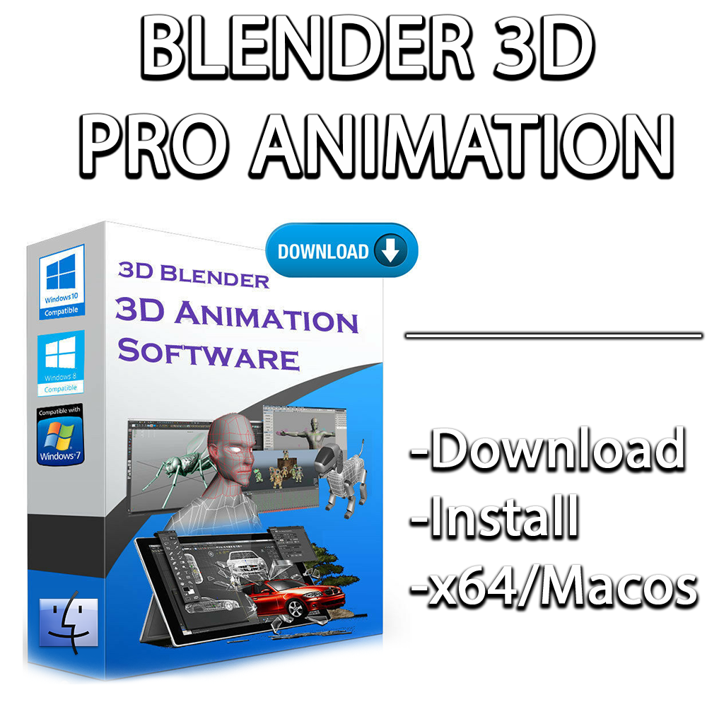 3D Blender PRO Animation Graphics Design   Manual Included   Windows 2