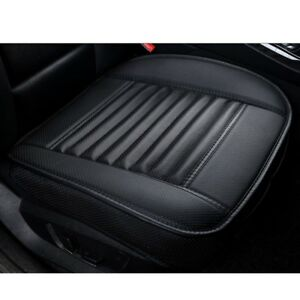 Black-3D-Universal-Bamboo-Charcoal-Cushion-Seat-Pad-PU-Leather-Car-Seat-Covers