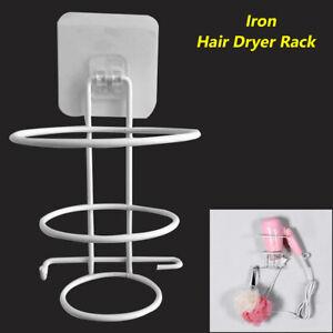 Bathroom-Wall-Mount-Hair-Dryer-Holder-Rack-Spiral-Stand-Storage-Hanger-Durable