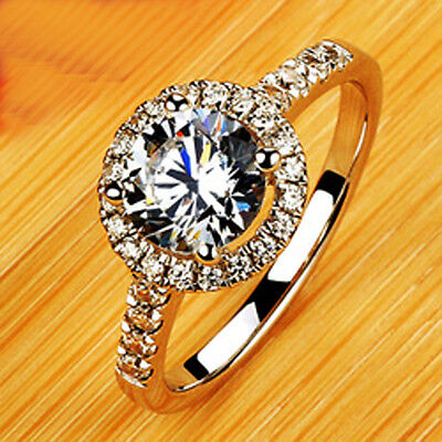 Size 5-10 Great Jewelry Ladys White Sapphire 10KT White Gold Filled Wedding Ring