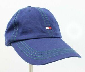 c688fc69 Tommy Hilfiger Navy Blue Strapback Dad Cap Hat Rap Hip Hop Spell Out ...