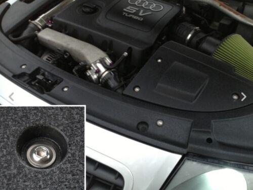Si adatta AUDI TT Motore Bay Copertura bulloni di fissaggio 50 pezzi Kit di conversione SS