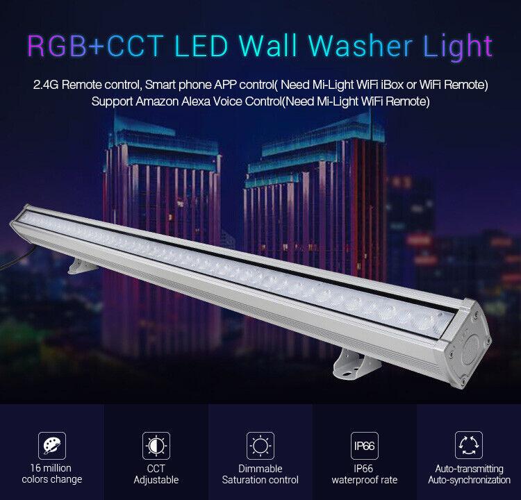 RL1-24  Mi Light RGB + CCT Wall washer  24 W  incl. Fb