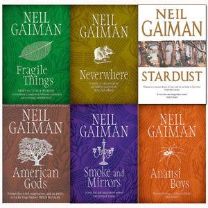 Neil-Gaiman-Collection-6-Books-Set-Pack-Neverwhere-American-Gods-Stardust-NEW