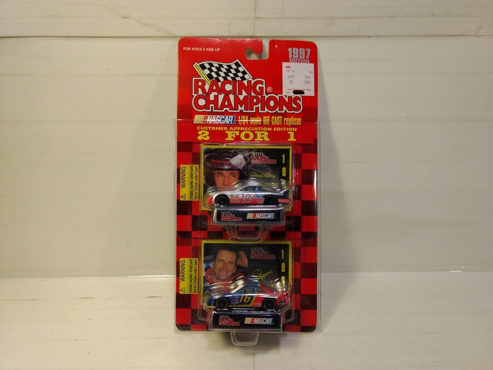 Racing Racing Racing Champions 1997 Darrell Waltrip Ted Musgrave 2 Voitures Ensemble 1 64 93a656