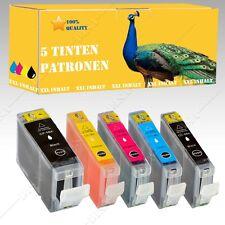 5x Tinte kompatibel mit CANON Pixma IP 4500 / IP 4500X 8Serie mit Chip INK-207