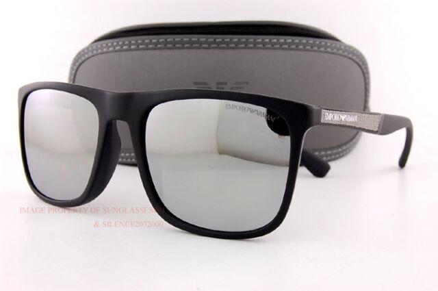 abcae89ab98 Brand New EMPORIO ARMANI Sunglasses 4097 5042 Z3 Black Silver Mirror for Men