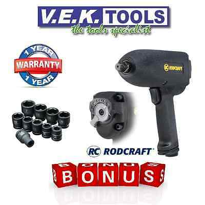 """Useful Cp Rodcraft 1/2"""" Air Impact Wrench & Sockets Combo Kit In Case-valued@$299 Sp To Be Distributed All Over The World Other Air Tools Impact Wrenches"""