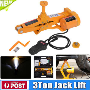 12V-Electric-Scissor-Jack-Lift-3T-Car-SUV-Automotive-Remote-Hoist-ToolBox-3000KG