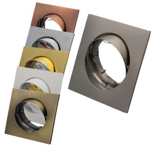 Gold LED Einbaustrahler 230V Set Einbauleuchten flach Chrom Graphit schwenkbar