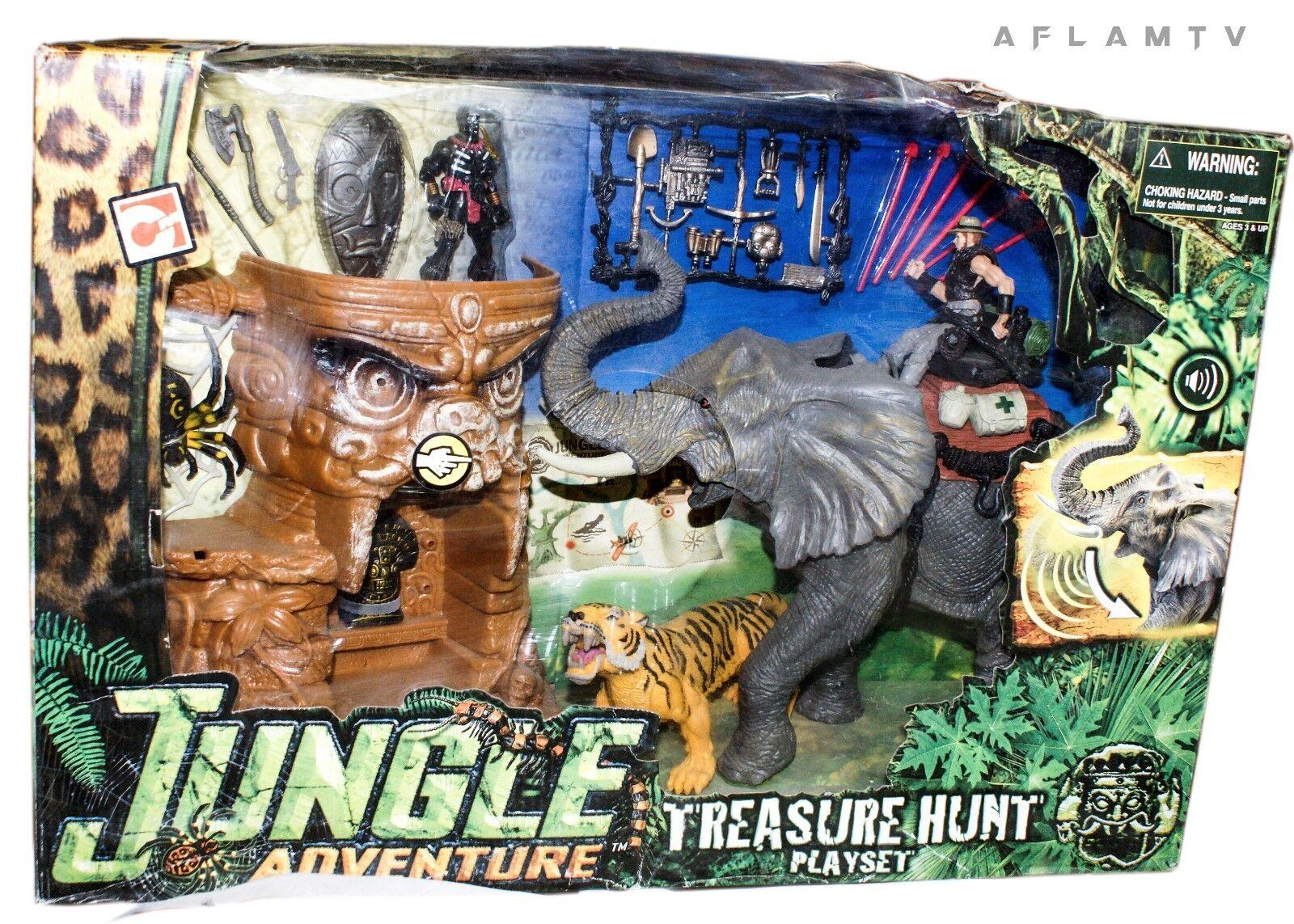 Chap Mei Jungle Adventure Treasure Hunt Playset Action Figure Elephant Tiger