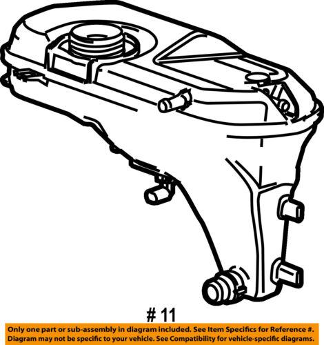 JAGUAR OEM XJR 04-09 COOLANT EXPANSION TANK C2C41900