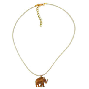 Kette-Elefant-mini-braun-glaenzend