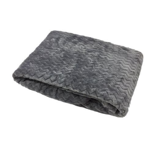 Zig Zag Chevron Argent Gris Super Soft Fleece Throw Blanket 127 cm x 180 cm