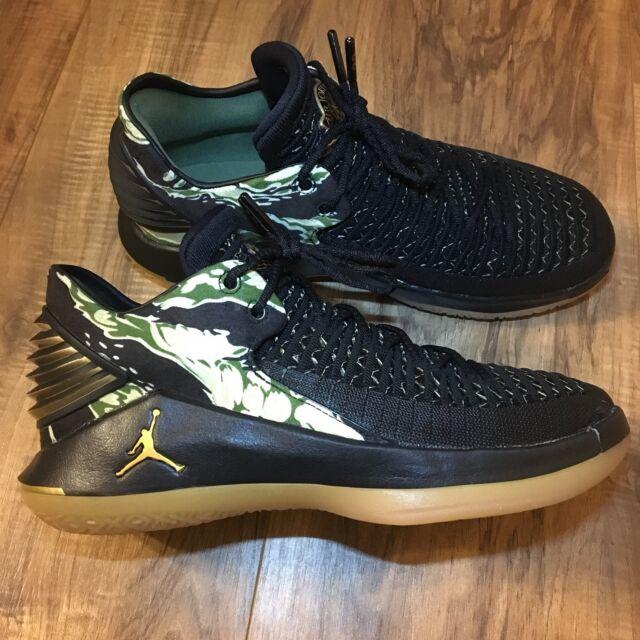 big sale a364f 91a2a Nike Air Jordan XXXII 32 Low BG Camo Black Basketball Shoe AA1257-021 Youth  Size