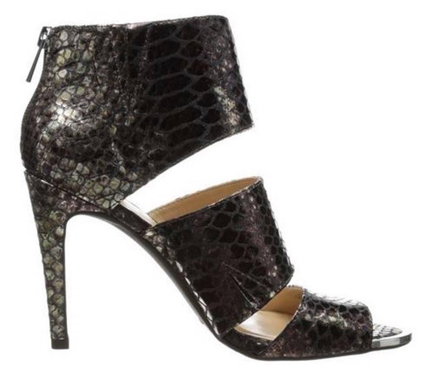 Women's Shoes Jessica Simpson ELSBETH Peep-toe Pumps Metallic Boa Snake Bronze