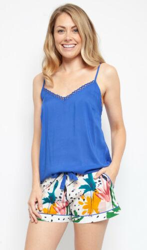 Ladies Womens Blue Abstract Shorty Pyjama Set /'Alicia/' Cyberjammiesl 4446//4441