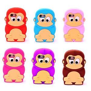 Schutzhülle Silikon Handyhülle SoftcaseTasche Hülle Cover Gorilla Affe 3D Tier