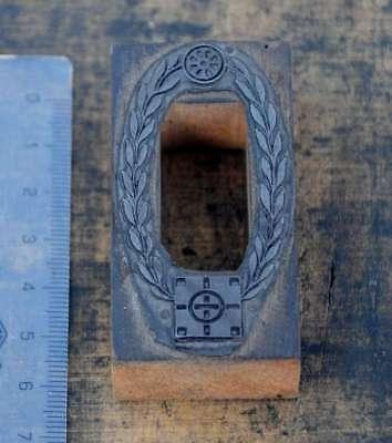 GemäßIgt Rahmen Oval Druckstock Jugendstil Klischee Druckplatte Stempel Letterpress Print Weder Zu Hart Noch Zu Weich