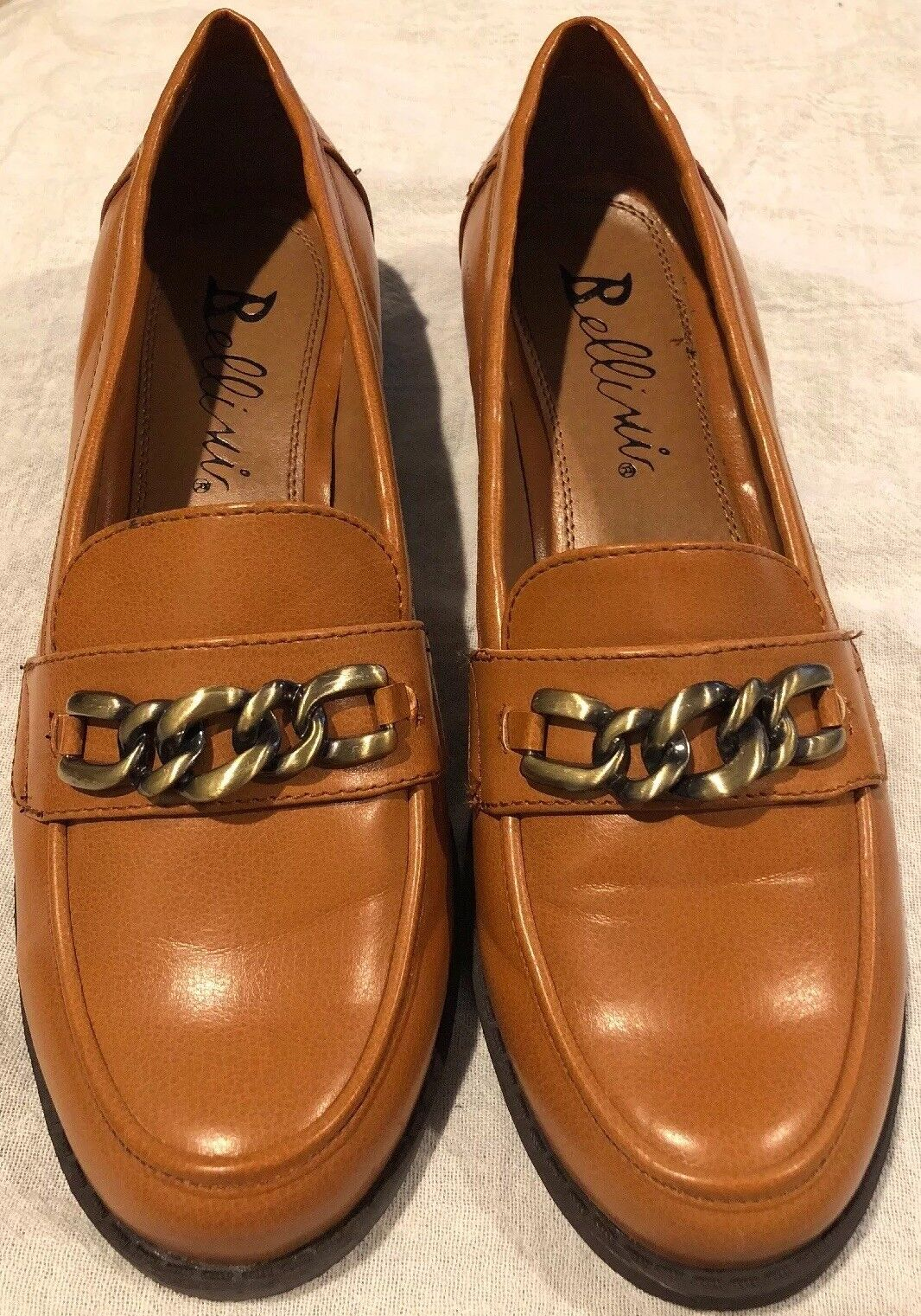 Bellini Women's Slip On Dress shoes Mustard Size 7.5 Augusta NEW Low Heel Loafer