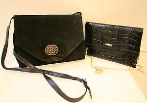 4bdc575c9b1c0 Das Bild wird geladen Vintage-Set-schoene-Handtasche-edle-Clutch-Leder-m-